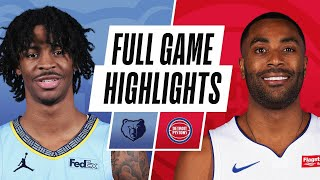 EUROPESE OMROEP | OPENN  | GRIZZLIES at PISTONS | FULL GAME HIGHLIGHTS | May 6, 2021