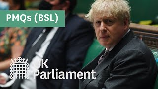 EUROPESE OMROEP | OPENN  | Prime Minister's Questions with British Sign Language (BSL) - 28 April 2021