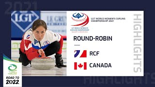 EUROPESE OMROEP | OPENN  | Highlights of RCF v Canada - Round Robin - LGT World Women's Curling Championship 2021