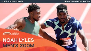 EUROPESE OMROEP | OPENN  | Noah Lyles holds off Kenneth Bednarek to win 200m | USATF Golden Games Continental Tour Gold