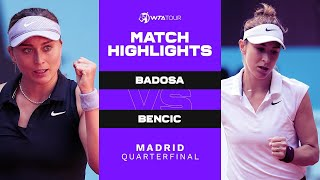EUROPESE OMROEP | OPENN  | Paula Badosa vs. Belinda Bencic | 2021 Madrid Quarterfinal | WTA Match Highlights
