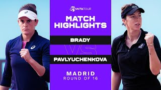 EUROPESE OMROEP | OPENN  | Jennifer Brady vs. Anastasia Pavlyuchenkova | 2021 Madrid Round of 16 | WTA Match Highlights