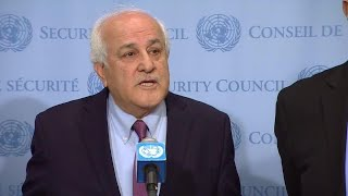 EUROPESE OMROEP | United Nations | Riyad H. Mansour (Palestine) on the situation in Palestine - Media Stakeout (20 April 2018) | 1524257813 2018-04-20T20:56:53+00:00