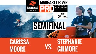 EUROPESE OMROEP | OPENN  | Carissa Moore vs Stephanie Gilmore Semifinals HEAT REPLAY Boost Mobile Margaret River Pro