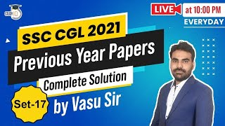 EUROPESE OMROEP | OPENN  | SSC CGL 2021 Maths Preparation - Previous Year Papers Complete Solution by Vasu Sir - Set 17