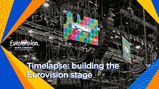 EUROPESE OMROEP | OPENN  | Timelapse: the construction of the Eurovision stage in Rotterdam Ahoy | Eurovision 2021
