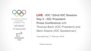 EUROPESE OMROEP | IOC Media | IOC 132nd IOC Session – Day 2 - IOC President Press Conference | 1517998969 2018-02-07T10:22:49+00:00