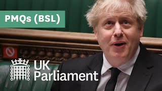 EUROPESE OMROEP | OPENN  | Prime Minister's Questions with British Sign Language (BSL) - 21 April 2021