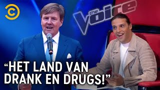 EUROPESE OMROEP | OPENN  | KONING WILLEM ALEXANDER doet AUDITIE in The Voice of Holland