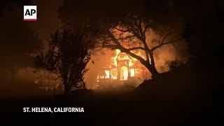 EUROPESE OMROEP OPENN Wildfires rage in Napa Valley win