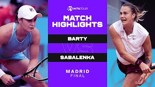EUROPESE OMROEP | OPENN  | Ash Barty vs. Aryna Sabalenka | 2021 Madrid Final | WTA Match Highlights
