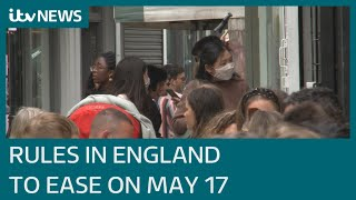 EUROPESE OMROEP | OPENN  | Covid roadmap: Boris Johnson confirms Covid rules will ease further from May 17 | ITV News