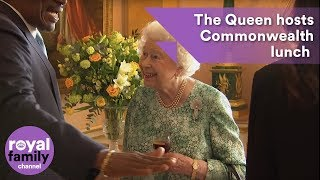 EUROPESE OMROEP | The Royal Family Channel | Queen hosts lunch for Commonwealth leaders at Buckingham Palace | 1524147726 2018-04-19T14:22:06+00:00