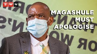 EUROPESE OMROEP | OPENN  | Magashule ordered to apologise or face disciplinary processes