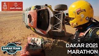 EUROPESE OMROEP | OPENN  | Helped a flipped car and HOW TO navigate in the Dakar Rally? Marathon stage 2021 Coronel brothers