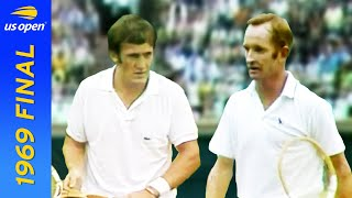 EUROPESE OMROEP | OPENN  | Rod Laver vs Tony Roche in pursuit of the first Open Era Grand Slam! | US Open 1969 Final