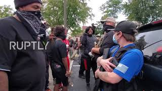 EUROPESE OMROEP OPENN USA: BLM protesters face off arme