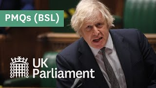 EUROPESE OMROEP OPENN Prime Minister's Questions with Britis