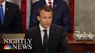 EUROPESE OMROEP | NBC News | French President Emmanuel Macron Calls On U.S. To Stay In Iran Deal | NBC Nightly News | 1524706106 2018-04-26T01:28:26+00:00