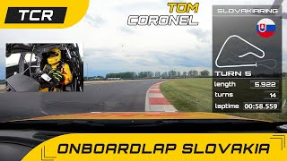 EUROPESE OMROEP | OPENN  | Onboardlap with infographics, Slovakiaring TCR Europe with Tom Coronel in the Audi RS3 LMS 2021