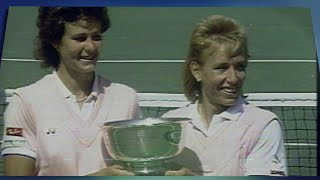 EUROPESE OMROEP | US Open Tennis Championships | US Open Tennis 50 Moments That Mattered: Martina Navratilova Wins the 1987 Triple Crown | 1521136908 2018-03-15T18:01:48+00:00