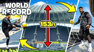 EUROPESE OMROEP | OPENN  | IMPOSSIBLE BALL CONTROL FROM TOTTENHAM HOTSPUR STADIUM 🤯🏟 | WORLD RECORD SKYWALK TOUCH