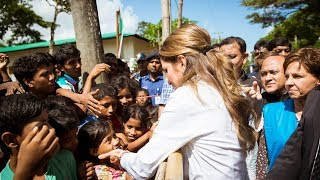 EUROPESE OMROEP | Queen Rania | Queen Rania visits the Muslim Rohingya refugees in Bangladesh | 1508778529 2017-10-23T17:08:49+00:00