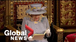 EUROPESE OMROEP | OPENN  | Queen's Speech 2021: Queen Elizabeth makes 1st official appearance since Prince Philip's death