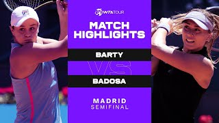 EUROPESE OMROEP | OPENN  | Ash Barty vs. Paula Badosa | 2021 Madrid Semifinal | WTA Match Highlights