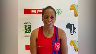 EUROPESE OMROEP | OPENN  | Namibia's Indoor Hockey Captain Magreth Mengo reacts on her team's qualification to 2022 IndoorWC