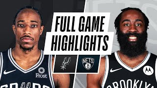 EUROPESE OMROEP | OPENN  | SPURS at NETS | FULL GAME HIGHLIGHTS | May 12, 2021