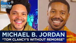 """EUROPESE OMROEP   OPENN    Michael B. Jordan - Modernizing """"Tom Clancy's Without Remorse""""   The Daily Show"""
