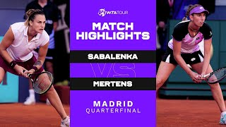 EUROPESE OMROEP | OPENN  | Aryna Sabalenka vs. Elise Mertens | 2021 Madrid Quarterfinal | WTA Match Highlights