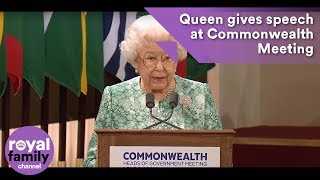 EUROPESE OMROEP | The Royal Family Channel | The Queen makes speech at Commonwealth Heads of Government Meeting | 1524131342 2018-04-19T09:49:02+00:00