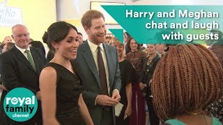 EUROPESE OMROEP | The Royal Family Channel | Prince Harry and Meghan Markle chat and laugh with guests at women's empowerment event | 1524167113 2018-04-19T19:45:13+00:00