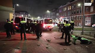 EUROPESE OMROEP | OPENN  | Netherlands: Chaos on Rotterdam streets as riots over curfew rage for third night