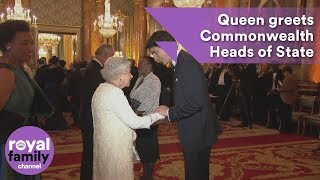EUROPESE OMROEP | The Royal Family Channel | Queen greets Commonwealth Heads of State | 1524215890 2018-04-20T09:18:10+00:00