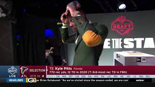 EUROPESE OMROEP | OPENN  | Falcons Select Kyle Pitts w/ #4 Pick | 2021 NFL Draft