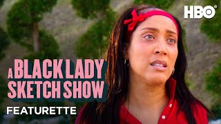 EUROPESE OMROEP | OPENN  | A Black Lady Sketch Show: Meet the Character with Robin Thede (Salina Duplass) Featurette | HBO