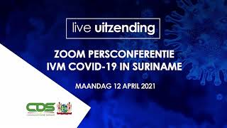 EUROPESE OMROEP OPENN ZOOM PERSCONFERENTIE IVM COVID-19 IN S