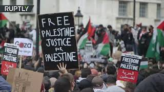 EUROPESE OMROEP | OPENN  | Pro-Palestine protesters hold rally in London