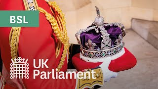 EUROPESE OMROEP | OPENN  | State Opening of Parliament and The Queen's Speech with British Sign Language (BSL) - 11 May 2021