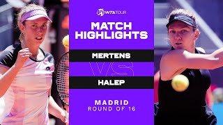 EUROPESE OMROEP | OPENN  | Elise Mertens vs. Simona Halep | 2021 Madrid Round of 16 | WTA Match Highlights