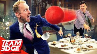 EUROPESE OMROEP   OPENN    We played Dodgeball in a 5 Star Restaurant! *things got messy😂*