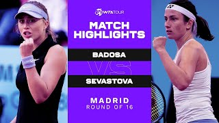 EUROPESE OMROEP | OPENN  | Paula Badosa vs. Anastasija Sevastova | 2021 Madrid Round of 16 |  WTA Match Highlights