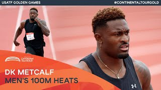 EUROPESE OMROEP | OPENN  | DK Metcalf debuts over 100m | USATF Golden Games Continental Tour Gold
