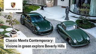 EUROPESE OMROEP   OPENN    Porsche 356 and 911-Driving in Beverly Hills
