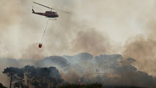 EUROPESE OMROEP OPENN Raging wildfire forces evacuation of C
