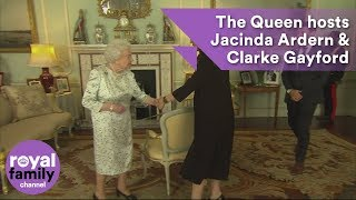 EUROPESE OMROEP | The Royal Family Channel | The Queen hosts Jacinda Ardern and Clarke Gayford at Buckingham Palace | 1524157544 2018-04-19T17:05:44+00:00