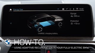 EUROPESE OMROEP | OPENN  | Using Adaptive Recuperation in your fully electric BMW – BMW How-To